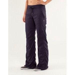 Lululemon Studio Full Length Pants Liner Purple 12